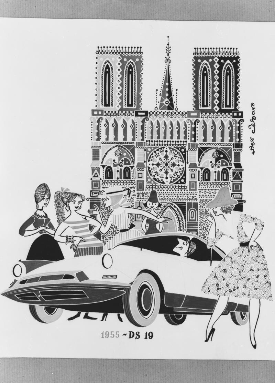 DS 19 の広告 - 1955年