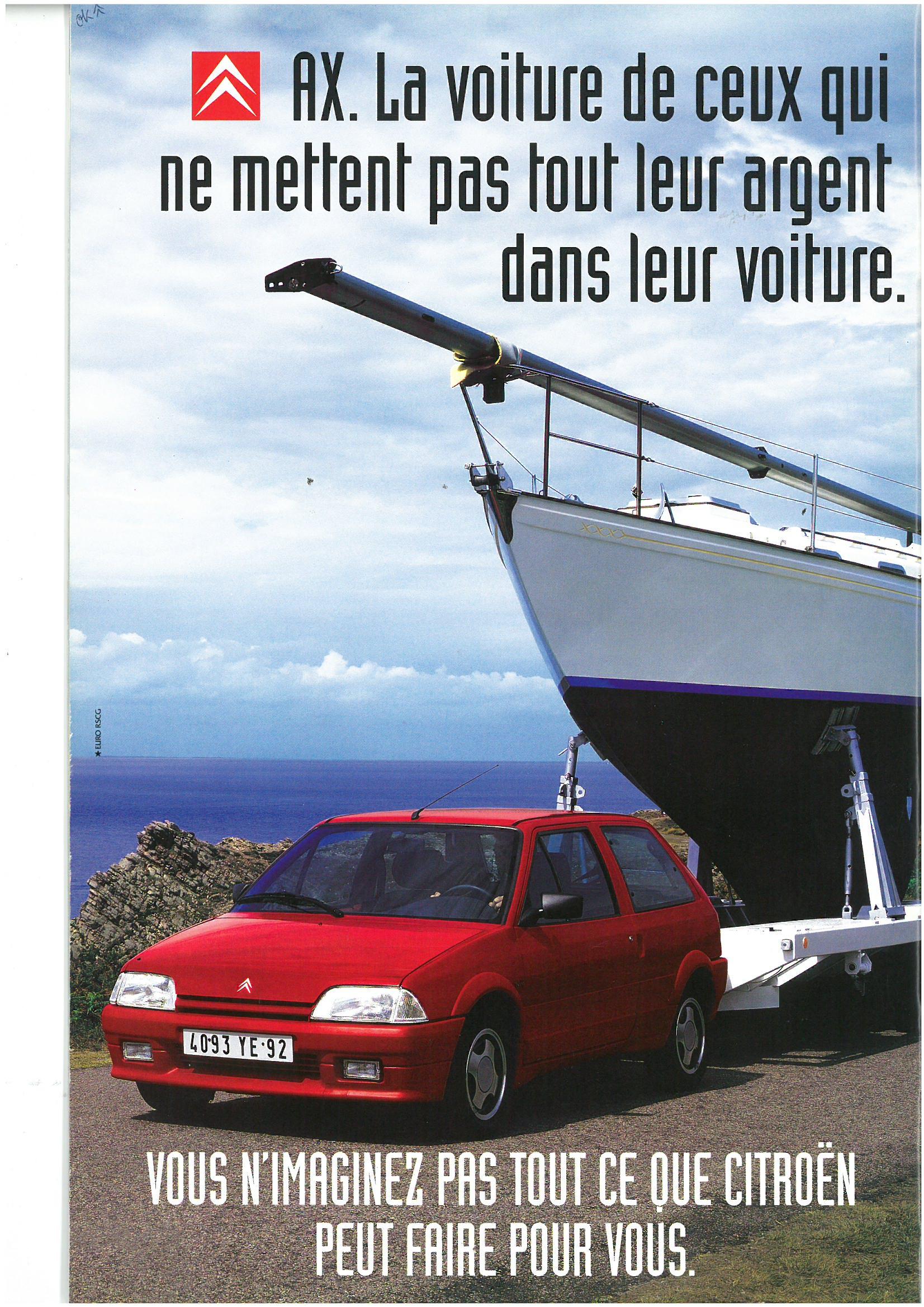 Publicité AX Furio 1995
