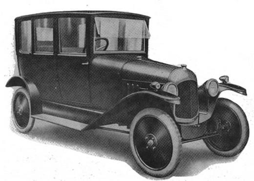 10 HP Type A conduite Intérieure 1919