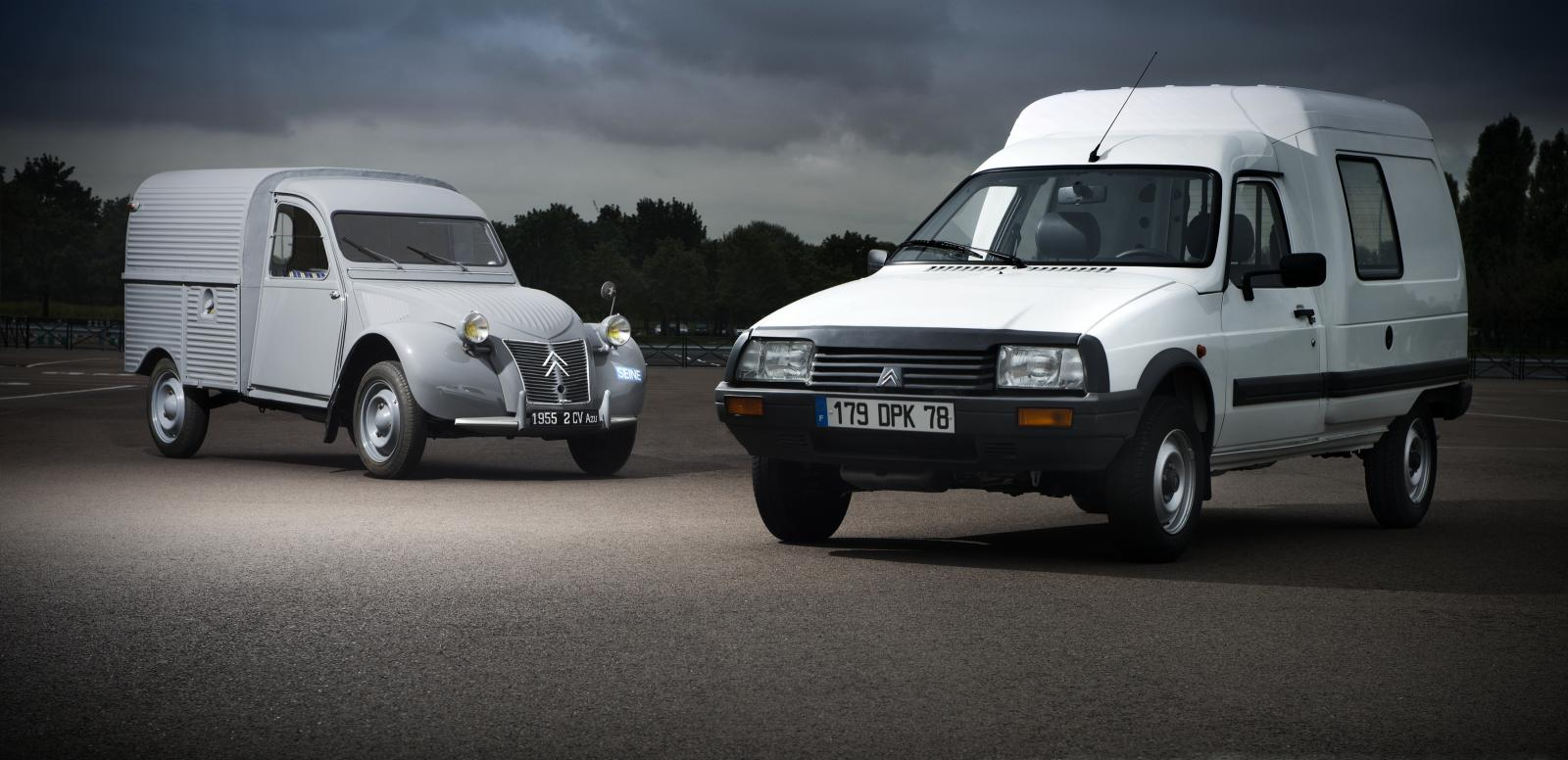 2 CV AZU 1955 et C15 2005