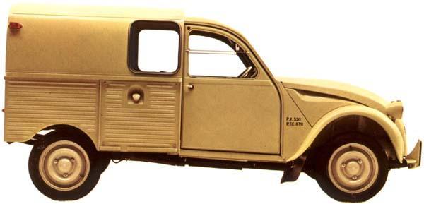 2CV AZU 1961 latéral