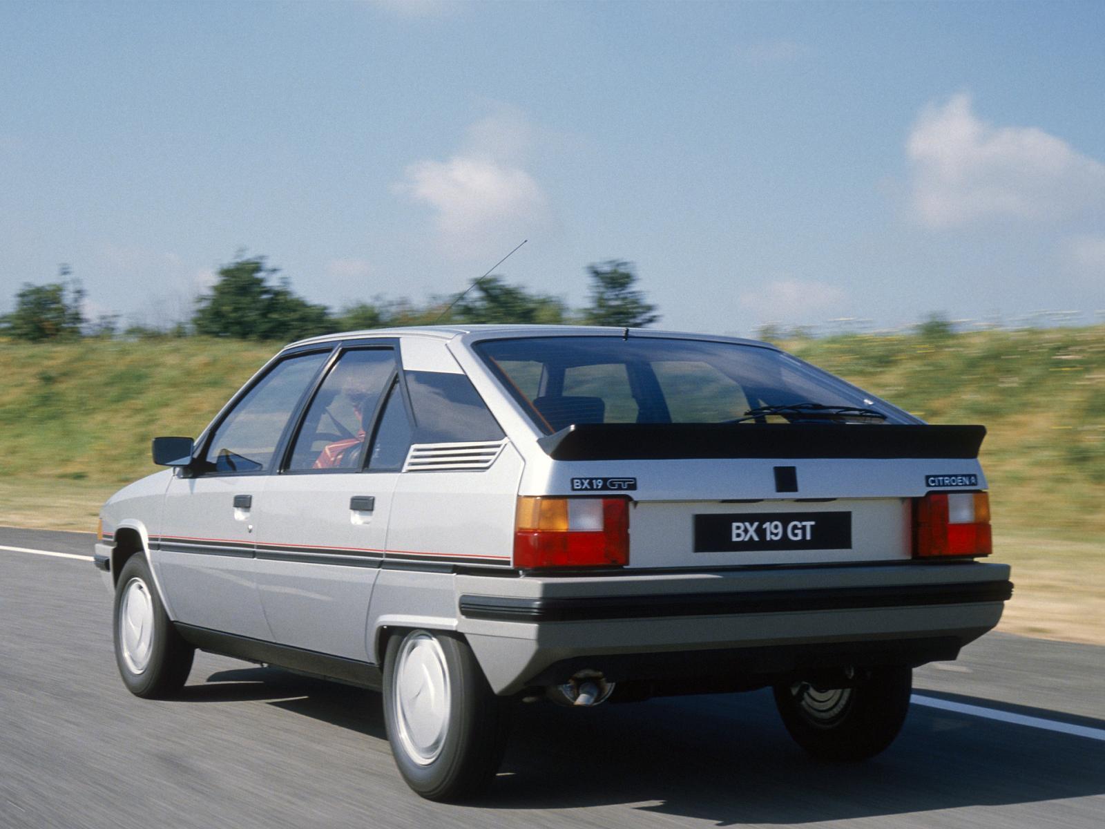 BX 19 GT 1985 3/4 arrière