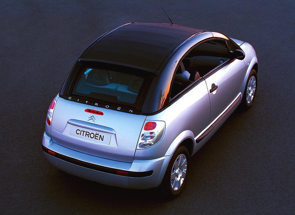 C3 Pluriel 2005 vue de haut capotée vitres ouvertes