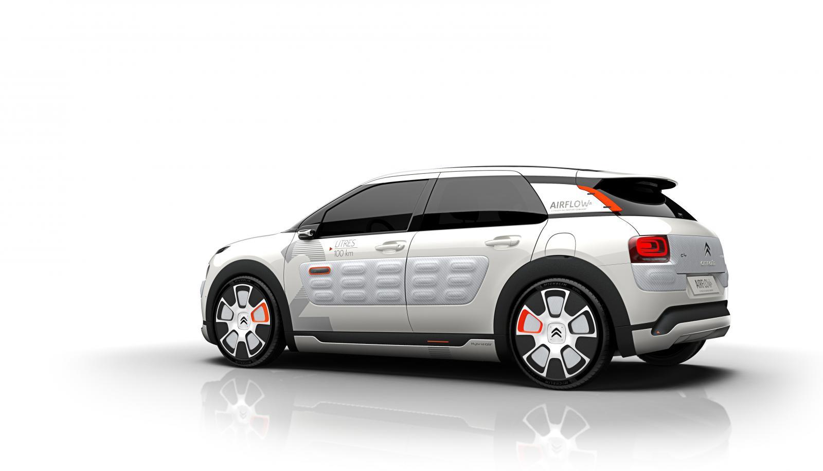 Concept-Car C4 Cactus Airflow 2014 3/4 arrière
